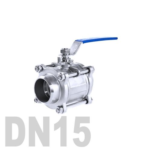Кран шаровой сварной нержавеющий AISI 304 DN15 (21.3 мм)