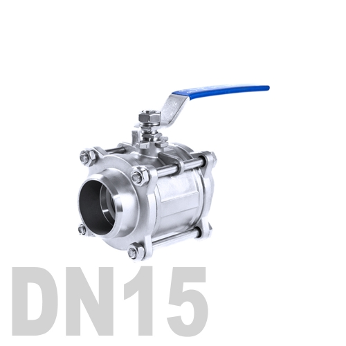 Кран шаровой сварной нержавеющий AISI 316 DN15 (21.3 мм)