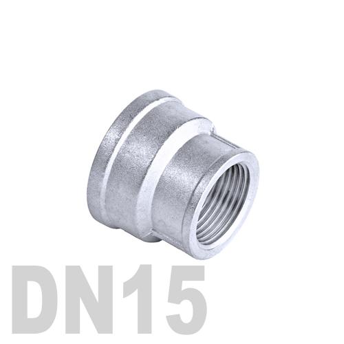 Муфта нержавеющая переходная [вр / вр]  AISI 304 DN15x10 (21.3 x 17.1 мм)