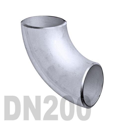Отвод нержавеющий приварной AISI 304 DN200 (204 x 2 мм)