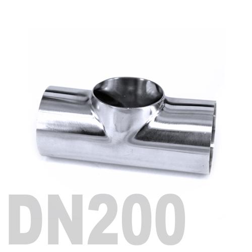 Тройник нержавеющий приварной AISI 316 DN200 (219.1 x 2 мм)