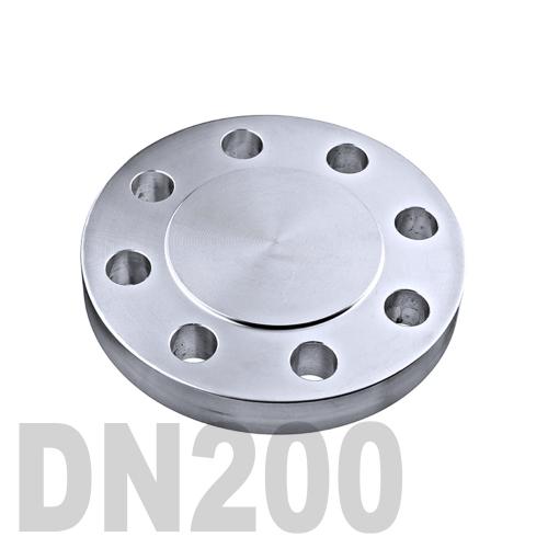 Фланцевая нержавеющая заглушка AISI 316 DN200 (204 мм)