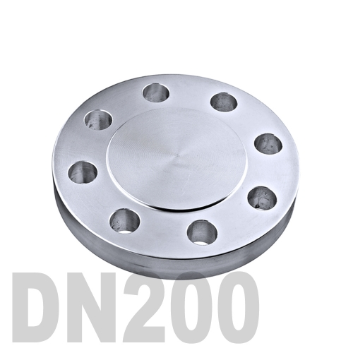 Фланцевая нержавеющая заглушка AISI 316 DN200 (219.1 мм)