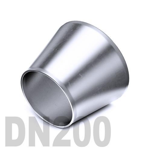 Переход концентрический нержавеющий приварной AISI 304 DN200x100 (204,0 x 104,0 x 2,0 мм)