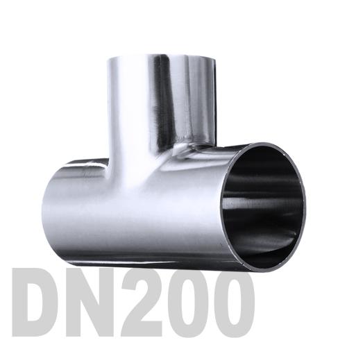 Тройник нержавеющий приварной AISI 316 DN200 (204 x 2 мм)