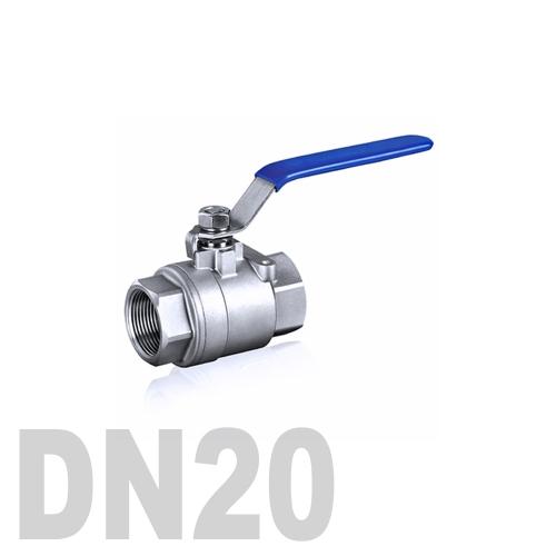 Кран шаровой муфтовый нержавеющий AISI 304 DN20 (26.9 мм)