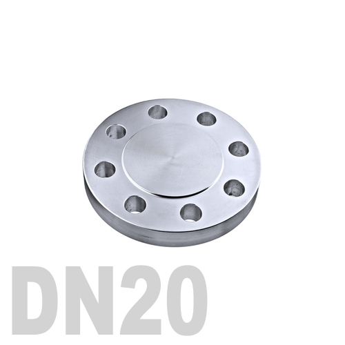 Фланцевая нержавеющая заглушка AISI 304 DN20 (22 мм)
