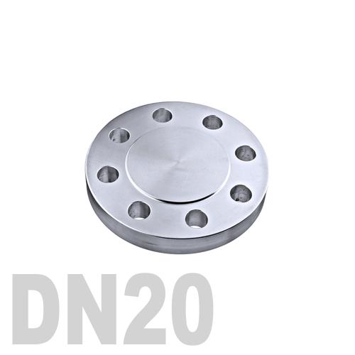Фланцевая нержавеющая заглушка AISI 304 DN20 (23 мм)