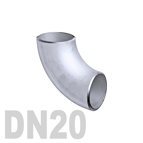 Отвод нержавеющий приварной AISI 304 DN20 (26.9 x 2 мм)