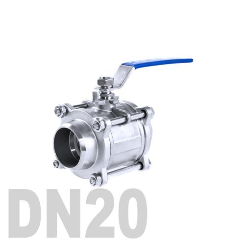 Кран шаровой сварной нержавеющий AISI 304 DN20 (26.9 мм)