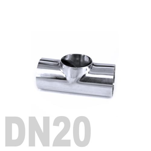 Тройник нержавеющий приварной AISI 316 DN20 (26.9 x 2 мм)