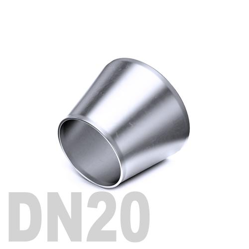 Переход концентрический нержавеющий приварной AISI 304 DN20x15 (22,0 x 18,0 x 1,5 мм)