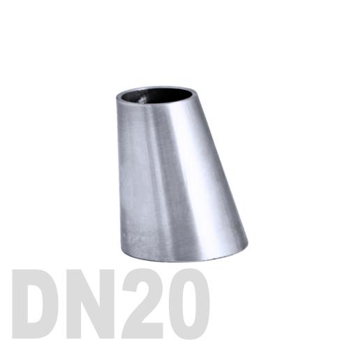 Переход эксцентрический нержавеющий приварной AISI 304 DN20x15 (22,0 x 18,0 x 1,5 мм)