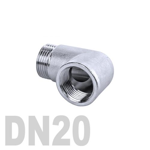 Отвод нержавеющий  90° [вр / нр] AISI 304 DN20 (26.9 мм)