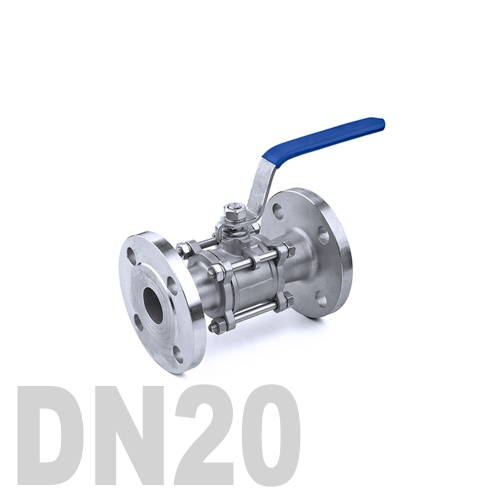 Кран шаровый фланцевый нержавеющий AISI 316 DN20 (26.9 мм)