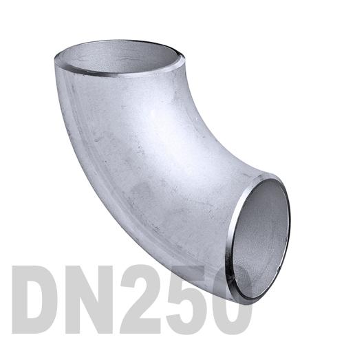 Отвод нержавеющий приварной AISI 316 DN250 (254 x 2 мм)