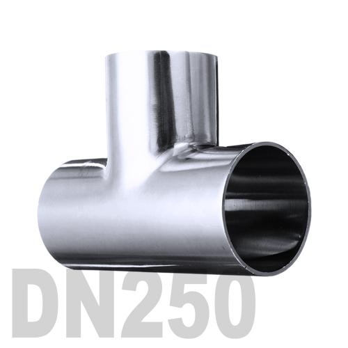 Тройник нержавеющий приварной AISI 304 DN250 (254 x 2 мм)