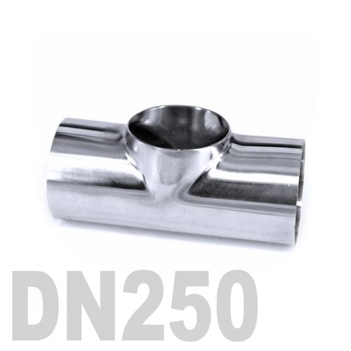 Тройник нержавеющий приварной AISI 304 DN250 (273 x 3 мм)