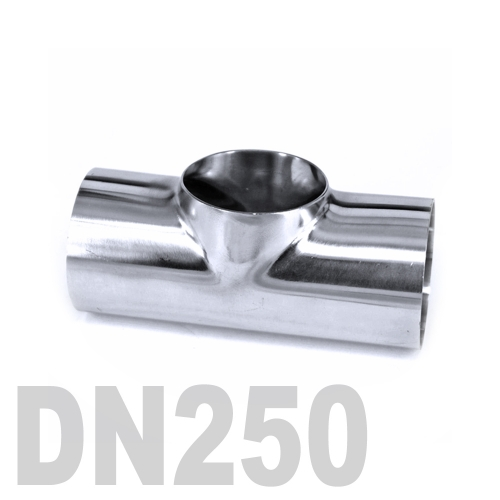 Тройник нержавеющий приварной AISI 316 DN250 (273 x 3 мм)