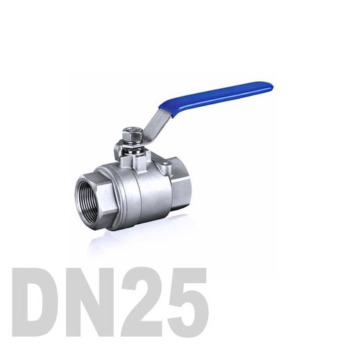 Кран шаровой муфтовый нержавеющий AISI 316 DN25 (33.7 мм)