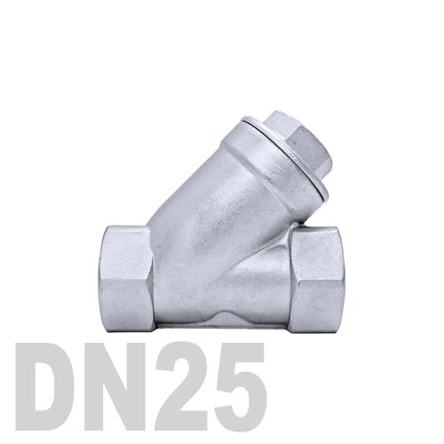 Клапан обратный муфтовый угловой нержавеющий AISI 316 DN25 (33.7 мм)