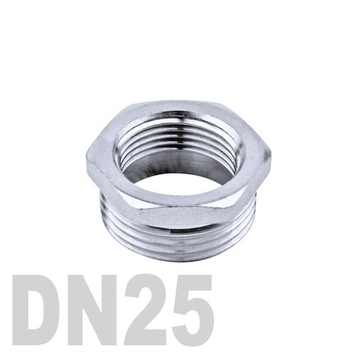 Футорка нержавеющая [нр / вр] AISI 316 DN25x20 (33.7 x 26.9 мм)