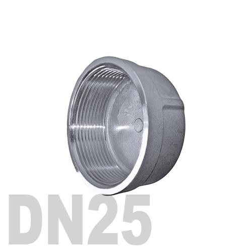 Заглушка колпачок нержавеющая [вр] AISI 304 DN25 (33.7 мм)