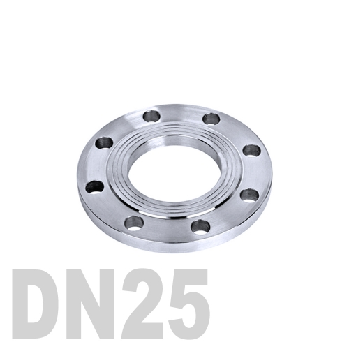 Фланец нержавеющий плоский AISI 304 DN25 (33.7 мм)