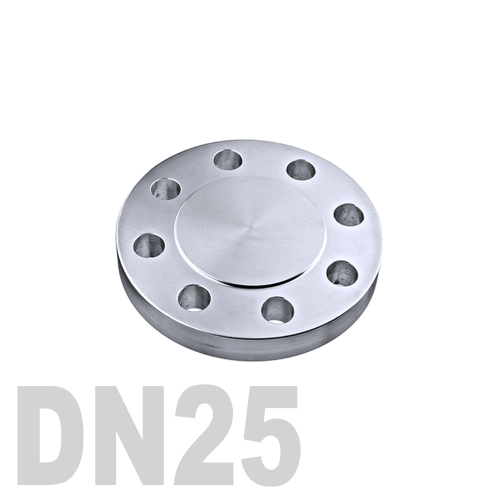 Фланцевая нержавеющая заглушка AISI 304 DN25 (33.7 мм)