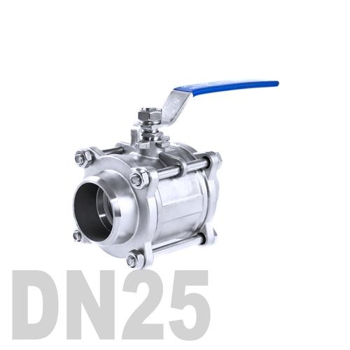 Кран шаровой сварной нержавеющий AISI 316 DN25 (33.7 мм)