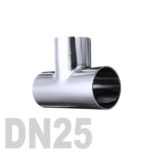 Тройник нержавеющий приварной AISI 316 DN25 (28 x 1.5 мм)