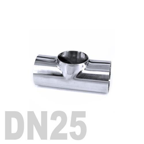 Тройник нержавеющий приварной AISI 316 DN25 (33.7 x 3 мм)