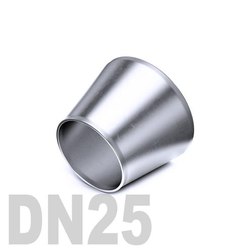 Переход концентрический нержавеющий приварной AISI 304 DN25x15 (29,0 x 19,0 x 1,5 мм)