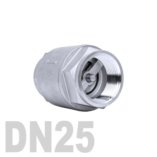 Клапан обратный муфтовый нержавеющий AISI 316 DN25 (33.7 мм)