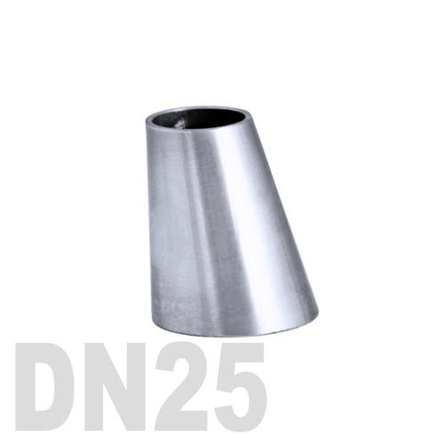 Переход эксцентрический нержавеющий приварной AISI 316 DN25x10 (28,0 x 12,0 x 1,5 мм)