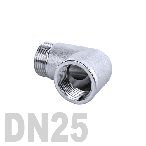 Отвод нержавеющий  90° [вр / нр] AISI 304 DN25 (33.7 мм)
