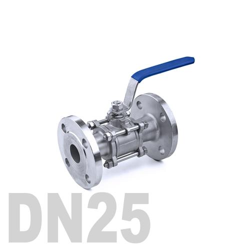 Кран шаровый фланцевый нержавеющий AISI 304 DN25 (33.7 мм)