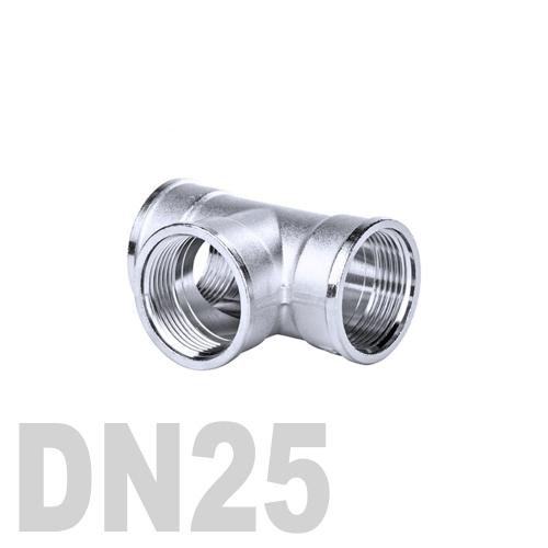 Тройник нержавеющий [вр / вр / вр] AISI 316 DN25 (33.7 мм)