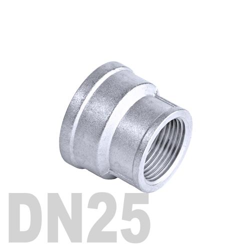 Муфта нержавеющая переходная [вр / вр]  AISI 304 DN25x15 (33.7 x 21.3 мм)
