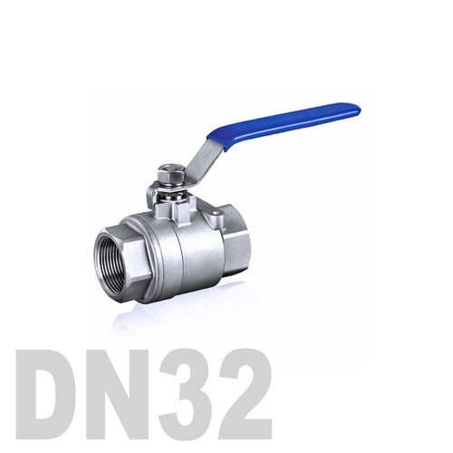 Кран шаровой муфтовый нержавеющий AISI 304 DN32 (42.4 мм)