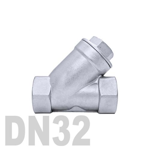 Клапан обратный муфтовый угловой нержавеющий AISI 316 DN32 (42.4 мм)