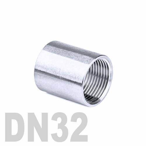 Муфта нержавеющая [вр] AISI 304 DN32 (42.4 мм)