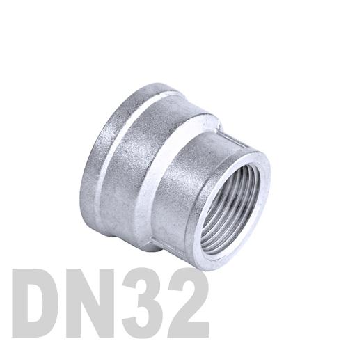 Муфта нержавеющая переходная [вр / вр]  AISI 304 DN32x15 (42.4 x 21.3 мм)