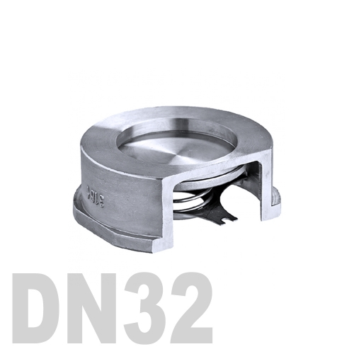 Клапан обратный межфланцевый нержавеющий AISI 316 DN32 (42.4 мм)