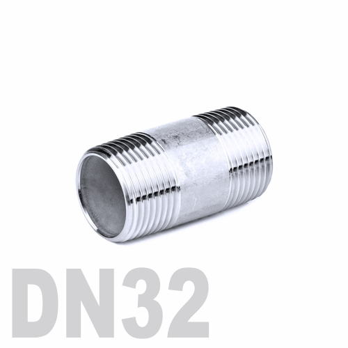 Бочонок нержавеющий [нр / нр] AISI 304 DN32 (42.4 мм)