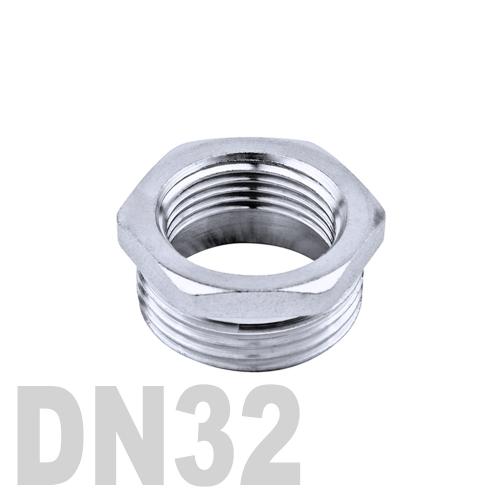 Футорка нержавеющая [нр / вр] AISI 304 DN32x20 (42.4 x 26.9 мм)