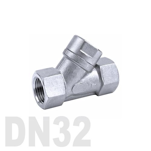 Фильтр угловой муфтовый нержавеющий AISI 304 DN32 (42.4 мм)