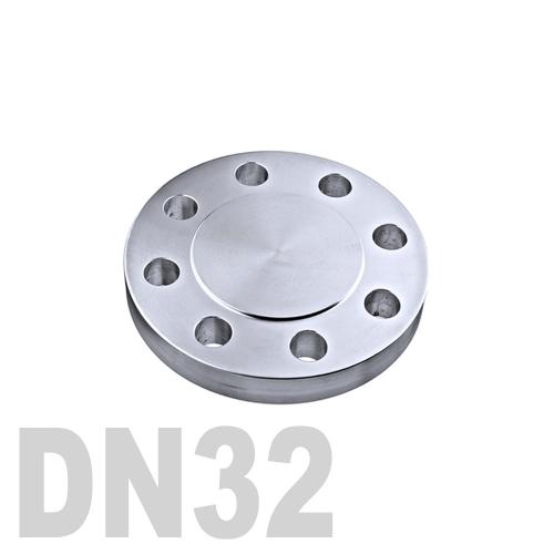 Фланцевая нержавеющая заглушка AISI 304 DN32 (34 мм)