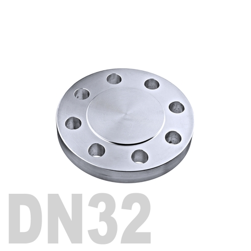 Фланцевая нержавеющая заглушка AISI 316 DN32 (34 мм)