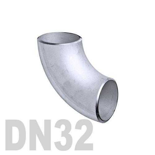 Отвод нержавеющий приварной полированный AISI 304 DN32 (35 x 1.5 мм)